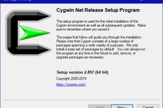 Cygwin installation dialogue box