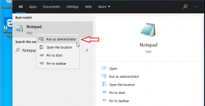 Opening Windows host file as administrator using Notepad